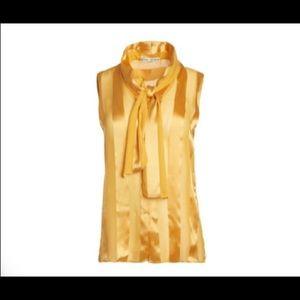 Alice + Olivia sleeveless tie sash blouse XS